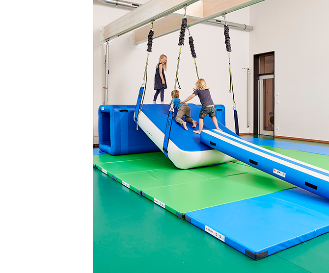 Airgym kids playing in class